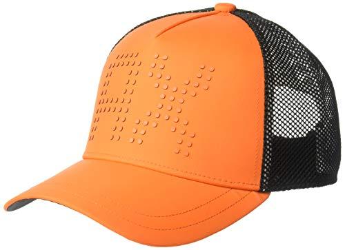 Armani Exchange Men's Large Logo Hat, Flame/Black, UNI (Caps Armani Exchange Black)