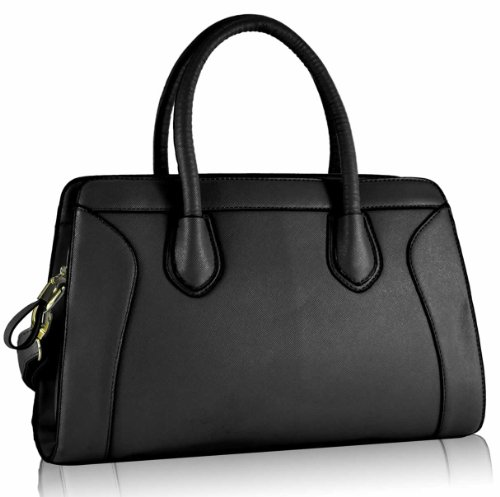 Ladies Satchel Bag Black Handbag Leather Style Style 3 Women Leather Shoulder Bag Style Crossbody Tote Celebrity Grab rw74qrnx