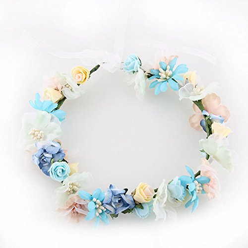 Fresh flowers fabric Ribbon Garland bride wedding dress pictures wedding ring headdress stage beauty hair accessories party supplies , style (Toddler Mossy Oak Flower Girl Dress)