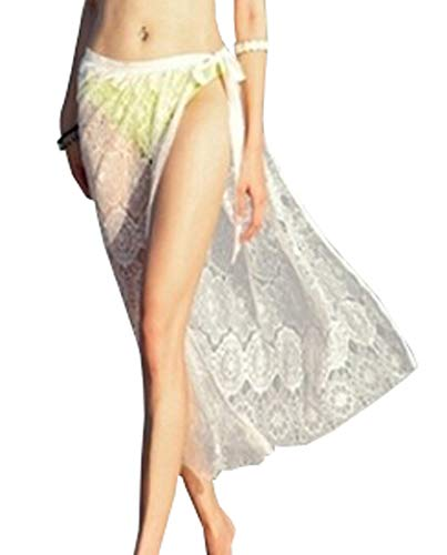 Wander Agio Beach Bikini Covers Sexy Skirt Cover Up Bohemian Skirts Lace White
