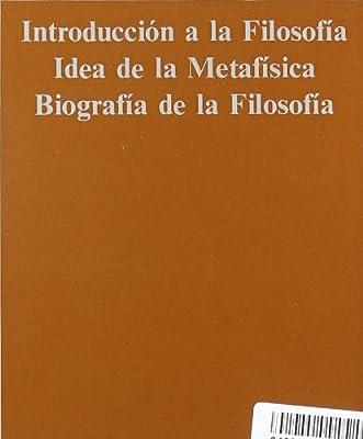 Tomo II: Introducción a la filosofía. Idea de la metafísica ...