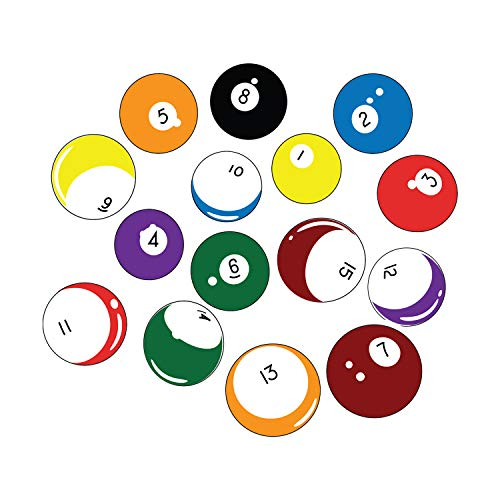 Stickerbrand 15 Billiard Balls Wall Decal Stickers