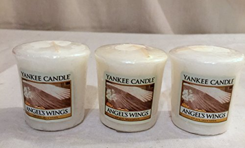 Wing Candle Angel (Lot of 3 Yankee Candle Angels Wings Votive Candles 1.75 oz)
