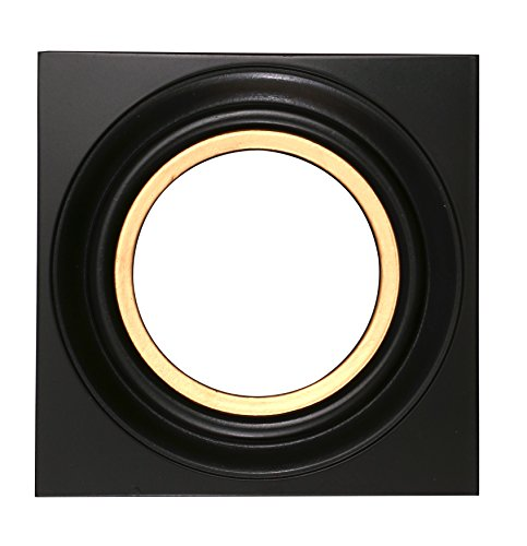 Small Round Photo Frame Black