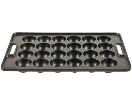 Cast Iron Ball (Hinomaru Collection Cast IronTakoyaki Pan Savory Octopus Balls Griddle Maker Mold Pan (24pc Rectangular))
