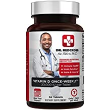 Dr. Ken Redcross, MD - ONE 20,000 IU Tablet PER Week Vitamin D3 - Full 1 Year Supply - 52 Tablets | Top Quality, Great Value Now Boosted with Calcium and Magnesium