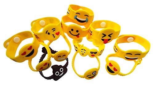 5th Grade Graduation Ideas - OHill 48 Pack Mixed Emoji Wristband
