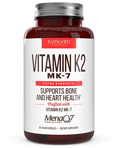 Extra Strength Vitamin K2 Supplement 180mcg - Vitamin k2 Supplement Supports Bone & Heart Health for Cardiovascular Calcium Absorption - 60 Easy to Swallow Vegan caps of Vitamin K2 MK7 (3 Pack) by Evolved Organics (Image #3)