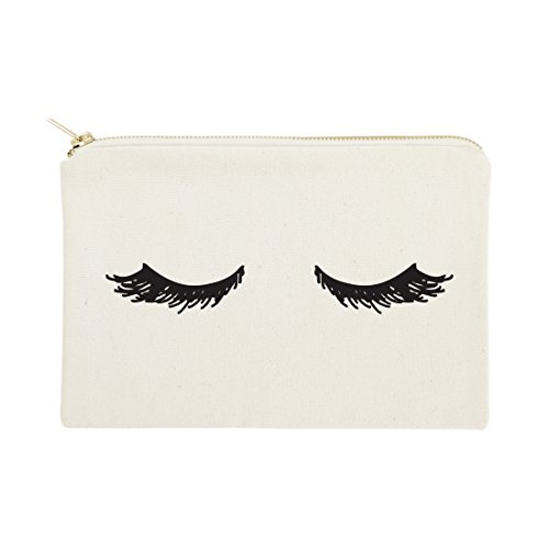 The Cotton & Canvas Co. Closed Eyelashes Cosmetic Bag and