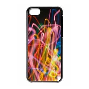XiFu*Meiiphone 6 plua 5.5 inch Case,Abstract Colorful Line Hard Shell Back Case for Black iphone 6 plua 5.5 inch Okaycosama355959XiFu*Mei