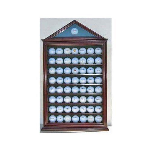 57ゴルフボールディスプレイケースシャドウボックス壁キャビネットホルダーラックW / 98 % UV保護( gb57-ma )   B0069VF4PK