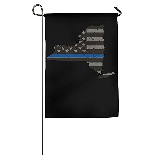 Thin Blue Line Flag New York State Custom Outdoor/Home Garden Flag For Present