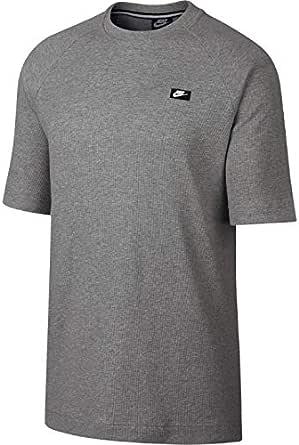 Nike Men's NSW ME Top SS WAFFLE, Green(Dk Grey Heather063), Large