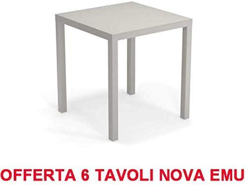 EMU Oferta 6 mesas Nova 70 x 70 Cemento de Exterior jardín Bar: Amazon.es: Jardín