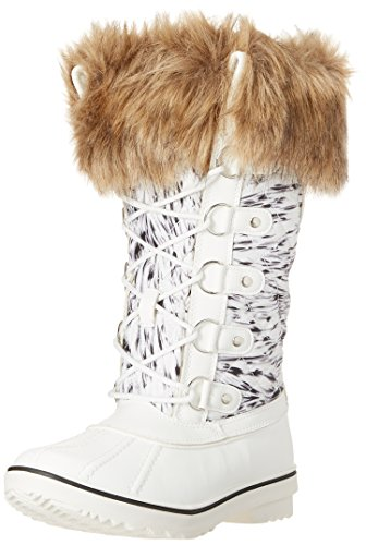 Kingshow Women's Globalwin Waterproof Winter Boots 1707white Print