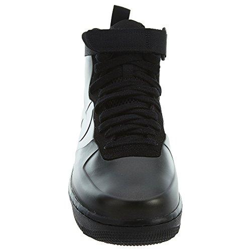 Nike Mens Air Force 1 Foamposite Kopp Avslappnade Sko Svart / Svart-svart