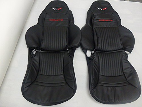 Interior Innovations Custom Black Synthetic Leather Seat Covers for C6 Sport Seats with Boot Kit