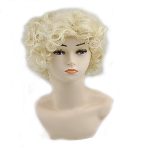 Simpleyourstyle Cosplay Wigs Lolita Short Curly Wigs (Blonde)
