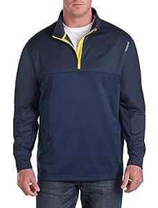 Reebok Big & Tall Play Warm 1/4-Zip Pullover (1XTALL, Navy)