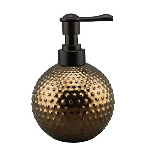 Ceramic Countertops Soap Dispenser with Plastic Pump, Refillable Lotion Dispenser, Bathroom Accessories - Brown