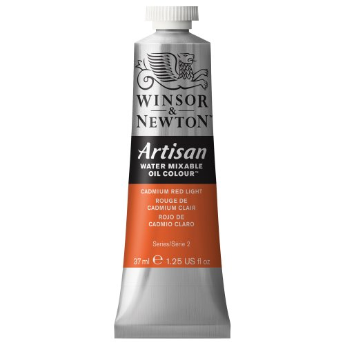 - Winsor & Newton 1514100 Artisan H20 Oils 37ML. CAD RED LT, 37-ml Tube, Cadmium Light