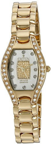 Croton Ladies Diamond Watch (CROTON Women's CN207534YLPV Analog Display Quartz Gold Watch)