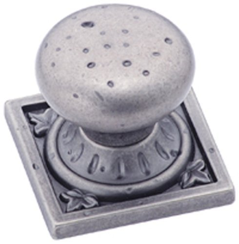 Amerock BP4484WN Ambrosia Euro Stone Square Knob, Weathered Nickel, 1-1/4-Inch by Amerock