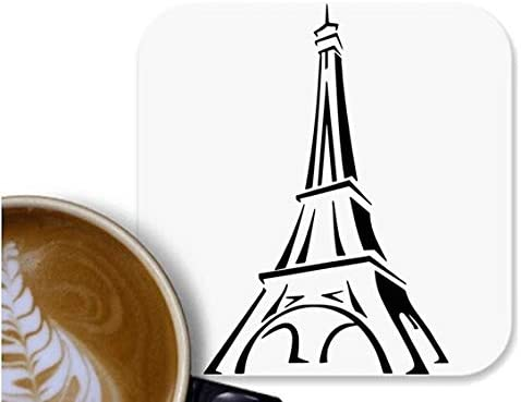 UDNAG MDF Tea Coffee Coaster 'Tower | Eiffel Tower' for Office Home [90 x 90mm]
