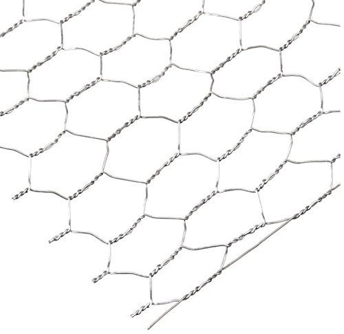 Darice 6614-100 Galvanized Chicken Wire Net for Craftwork, 18 by 39-Inch