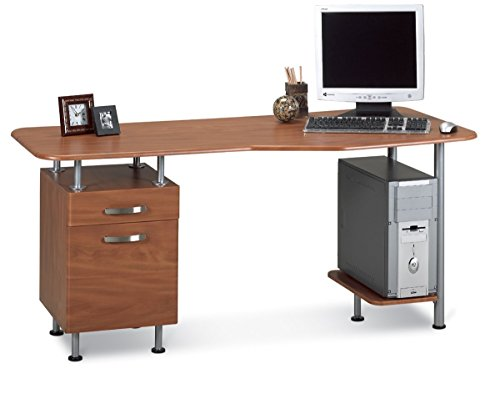 Mayline Small Home office Espresso Pc Desk with ()