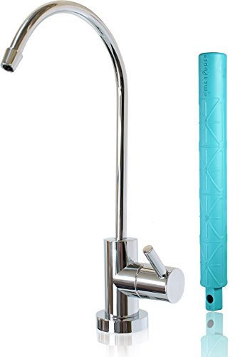 Metpure Reverse Osmosis Faucet,360 Degree Swivel Kitchen Sink Filter Drinking Water Purifier Filtration Faucet,Non-airgap RO System NSF100% Lead-Free Water Dispenser Spout(Chrome) with Faucet Wrench