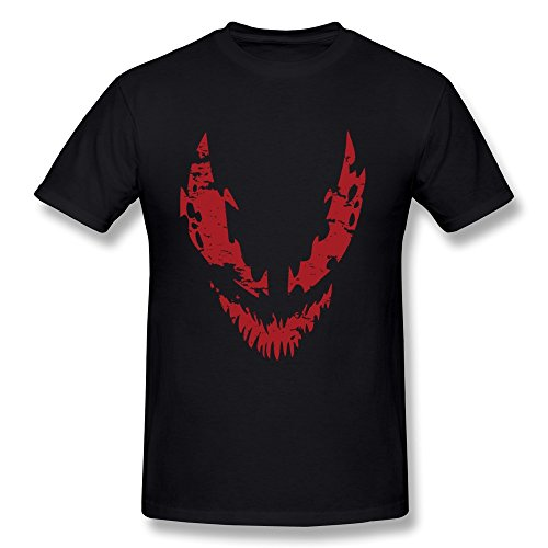 [AOPO Carnage Comic LOGO O-Neck Tee Shirts For Men Black] (Marvel Angela New Costume)