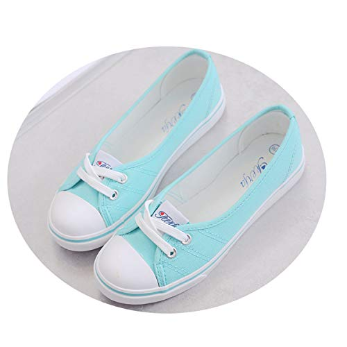 Nassau Game Set - Spring Light Canvas Shoes Women Shoes Slip-On Korean Tide Students Set Foot Pedal Flat Shoes Green 6