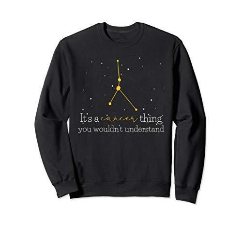Funny Cancer Astrology Zodiac Sign Sweatshirt