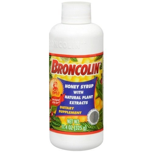 (Broncolin Syrup Dietary Supplement for Common Cold 11.4oz)