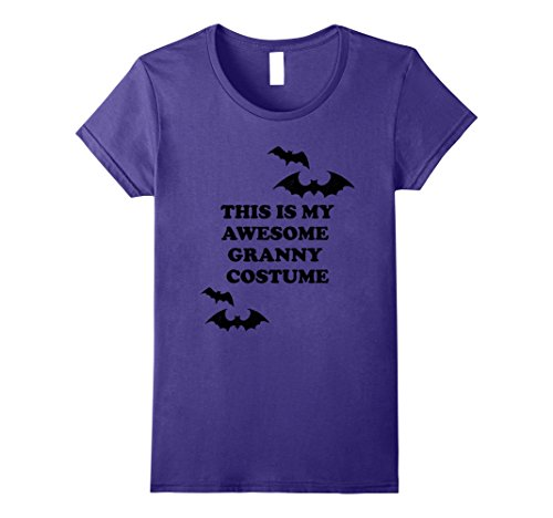 Granny Halloween Costumes (Womens This is my Awesome Granny Costume Funny Halloween T Shirt Medium Purple)