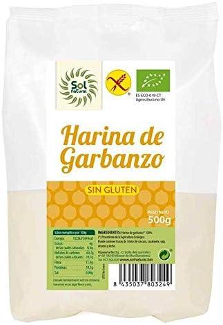 SOLNATURAL HARINA DE GARBANZO SIN Gluten Bio 500 g, No ...