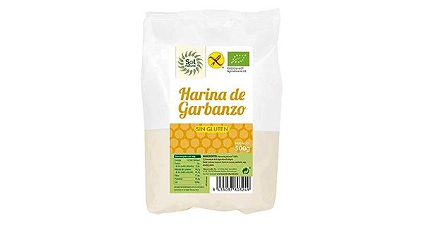 SOLNATURAL HARINA DE GARBANZO SIN Gluten Bio 500 g ...
