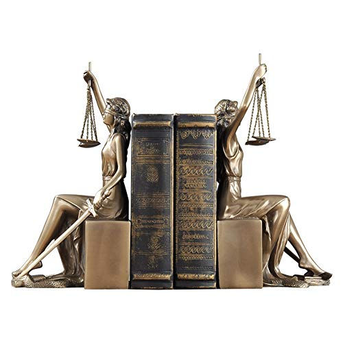 (SDBRKYH Greek Goddess Sculpture, Justice Bookends Justice Goddess Bookend Library Decoration Library Decoration Book Decoration Office Decoration)