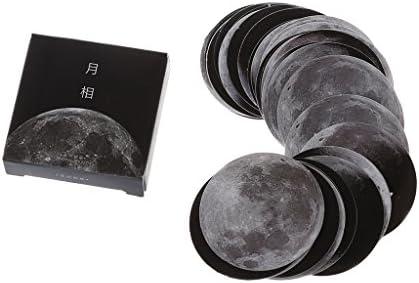 BASSK selbstklebende Bogen Moon Planet Scrapbooking Sticker Schreibwaren Bürobedarf Schule Schritt
