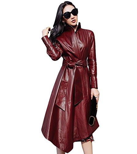 leather dress coat - 3