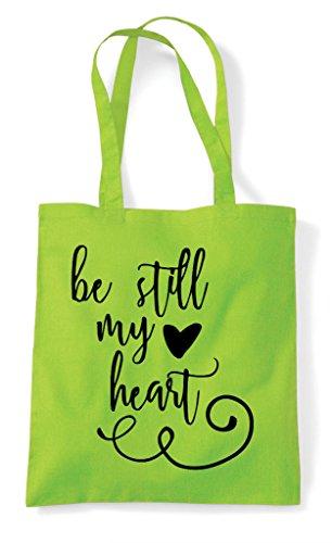 Romantic Lime Be Statement Tote Bag Heart Shopper My Still FwFSqRtTx