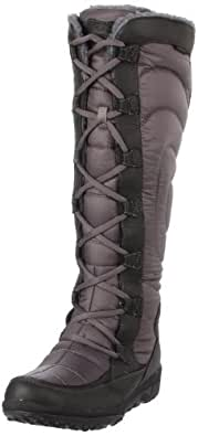 Timberland Women's 17680 Crystal Mountain Tall Lace-Up Boot,Black/Grey,5.5 W US