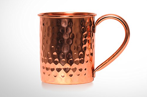 B. WEISS Moscow Mule Copper mug , Handmade Hammered mug- 100% Pure Copper Comes in an elegant gift box (single mug)