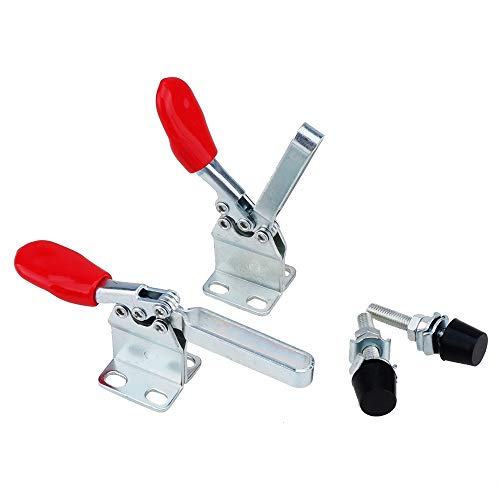 E-TING New 4PCS Hand Tool 201H Toggle Clamp Antislip Horizontal Clamp 201-A Upgraded Quick Clip