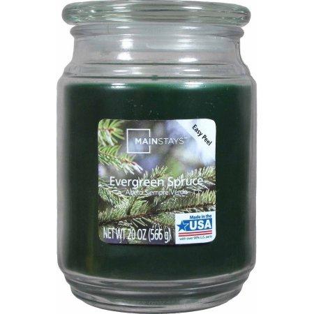 Mainstays Evergreen Spruce Jar Candle 20-Ounce