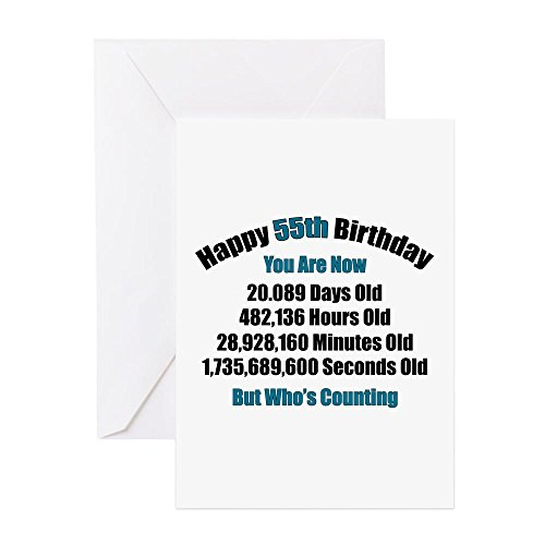 CafePress - 55 'Years' Old - Greeting Card, Note Card, Birthday Card, Blank Inside Matte (Card Birthday 55th)