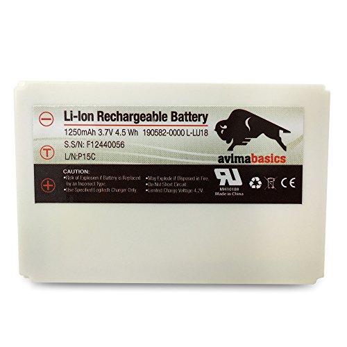 AvimaBasics 1250mAh 3.7V Li-Ion Battery Compatible with Logitech Logitech Harmony 915 1000 1100 1100i L-LU18 LU18 C-LR65 Squeezebox Duet Controller   190582-0000 F12440056 K398 L-LU18