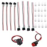10 sets of red and black buttons each 5 AC DC 1-250V 6A SPST thumb on/off mini boat wired rocker switch remote control car 2 line switch thumb board button marine switch LED table lamp small switch!