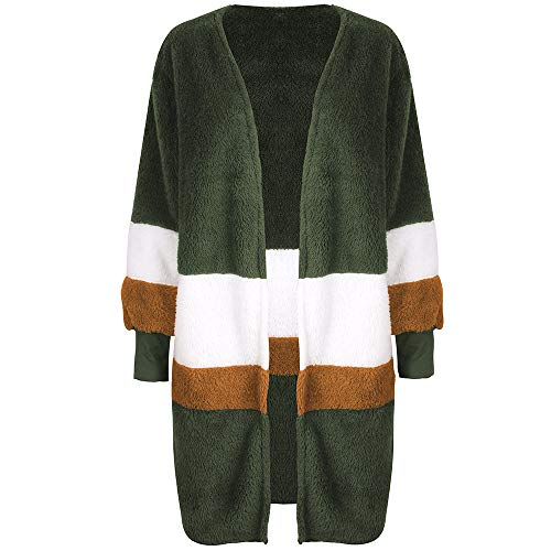 Longues Cardigan Ray Arctique Femme Velours OSYARD Rond Grande Hiver Manches pq0adwzd